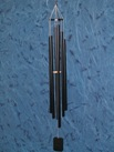 Large Steeple Wind Chimes Black